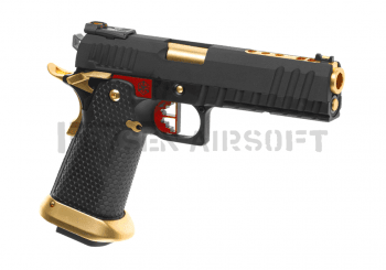 AW Custom HX2002 Full Metal GBB Gold, Red, Black