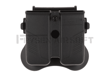 Amomax Universal Double Magazine Pouch Black