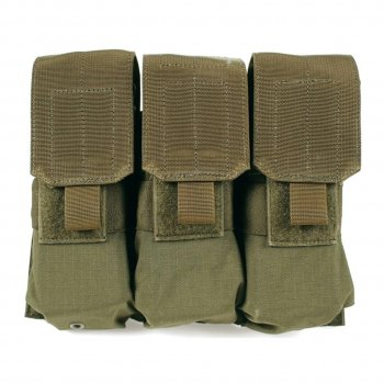 STRIKE M4/M16 TRIPLE MAG POUCH HOLDS 6 OD