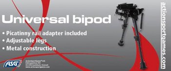 """Bipod, universal with rail adaptor """