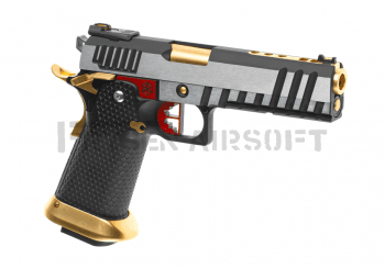AW Custom HX2001 Full Metal GBB Silver, Gold, Red
