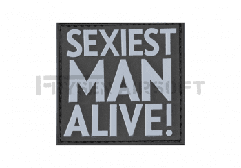 Sexiest Man Alive Patch Rubber SWAT