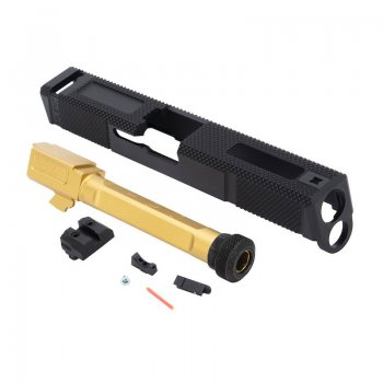 EMG SAI Utility Slide Kit G&P - Gold Barrel for Umarex Glock 17 GBB Pistol