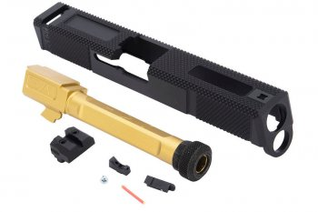 EMG SAI Utility Slide Kit G&P - Gold Barrel for Umarex(VFC) G19 GBB Pistol