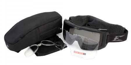 Edge Blizzard - Black Goggle / Clear & G-15 Vapor Shield E8812
