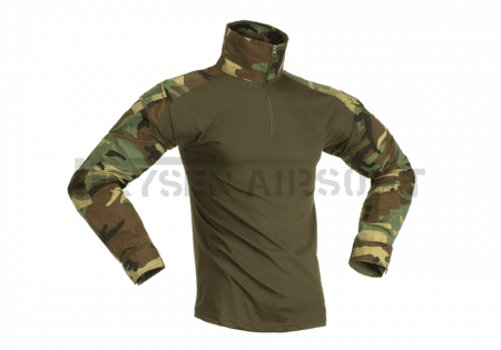 Invader Gear Combat Shirt Woodland S