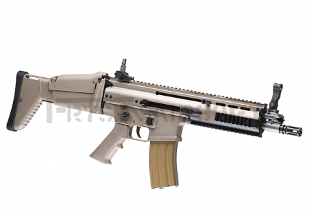 WE SCAR-L Open Bolt GBBR Desert