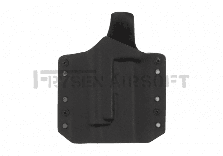 Warrior Ares Kydex Holster for Glock 17/19 with TLR Black