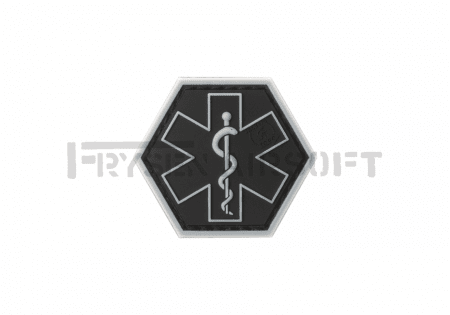 Paramedic Hexagon Rubber Patch SWAT