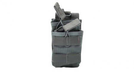 TIER STACKED MAG POUCH M4/FAL 20 ROUND URBAN GRAY